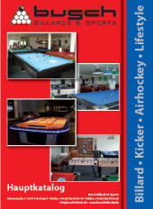 Busch Billards Billardtische Kicker Katalog