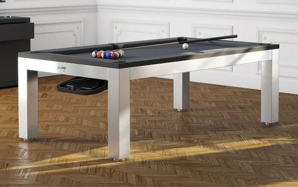 billardtisch als esstisch inox billardtisch busch. Black Bedroom Furniture Sets. Home Design Ideas