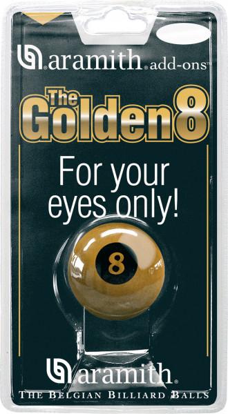 Golden 8-Ball Aramith Poolbillard