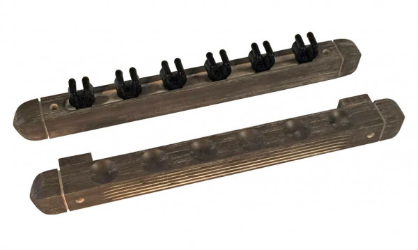 Queue Wandhalterung Holz grau 6er