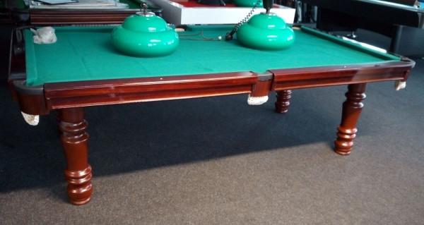Snookertisch Porto nussbaum/mahagoni