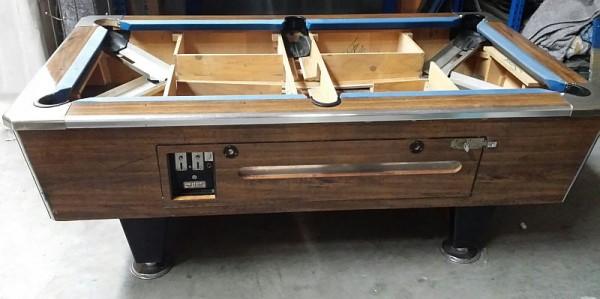 Poolbillardtisch gebraucht 7 Fuß braun