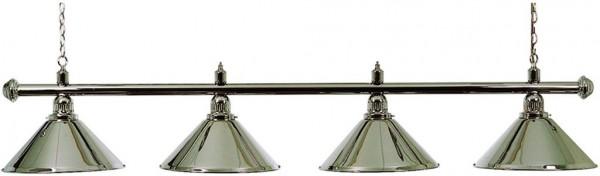 Billardlampe Franklin 4-flammig silber