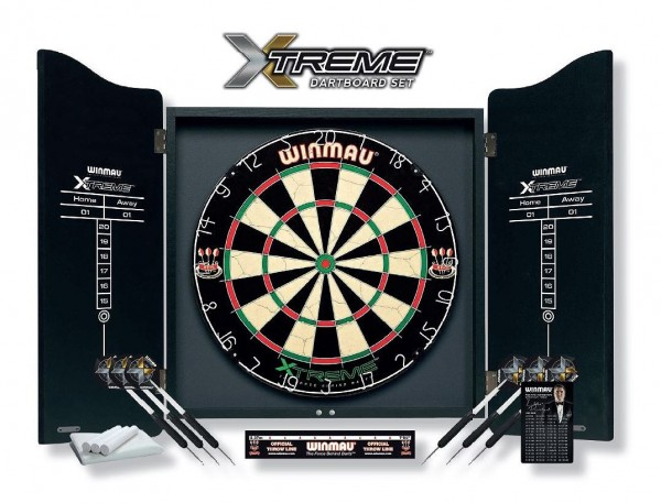 Dartboard Winmau XTREME mit Cabinet