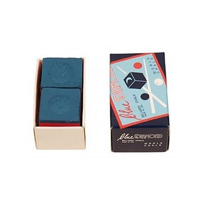 Billardkreide Blue Diamond 2er-Box, blau