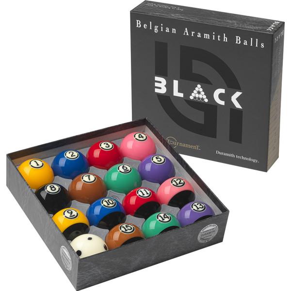 Aramith Tournament BLACK Poolbillard 57,2 mm