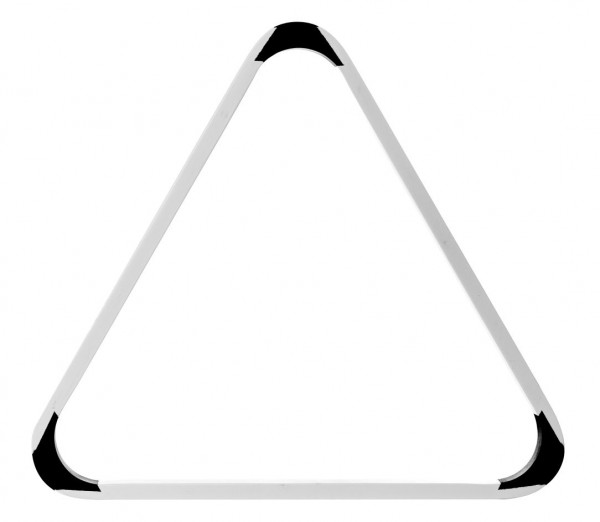 Poolbillard Dreieck weiß schwarz