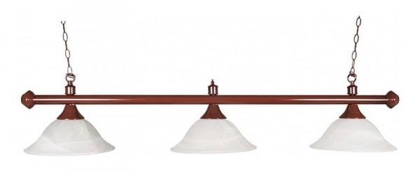 Billardlampe Glas rustikal