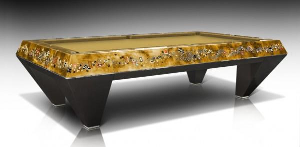 Exklusiver Billardtisch Nautilus Klimt Gold